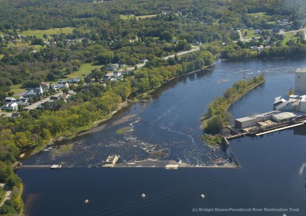 Great Works Dam | Photo by Bridget Besaw, Penobscot River Restoration Trust