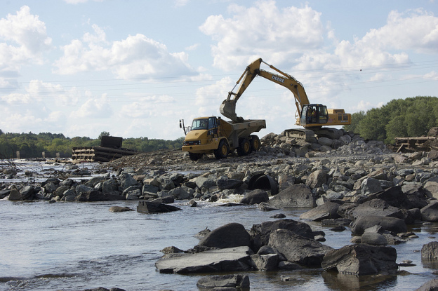 Great Works Dam | Photo by Penobscot River Restoration Trust