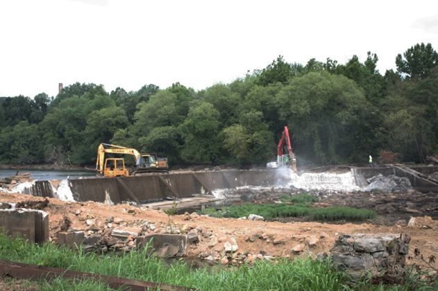 Harvell Dam removal in progress   Photo by Jessie Thomas-Blate