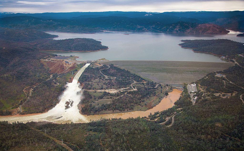 Oroville Dam on February 15, 2017 | Photo by Dale Kolke, CA DWR