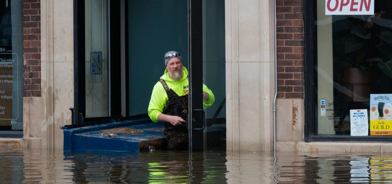 Flooding in Davenport, Iowa | Photo by Emilene Leone