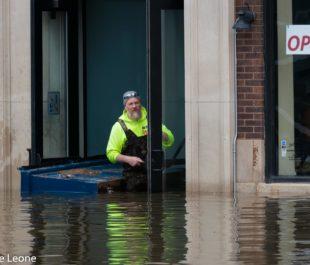 Flooding in Davenport, Iowa   Photo by Emilene Leone