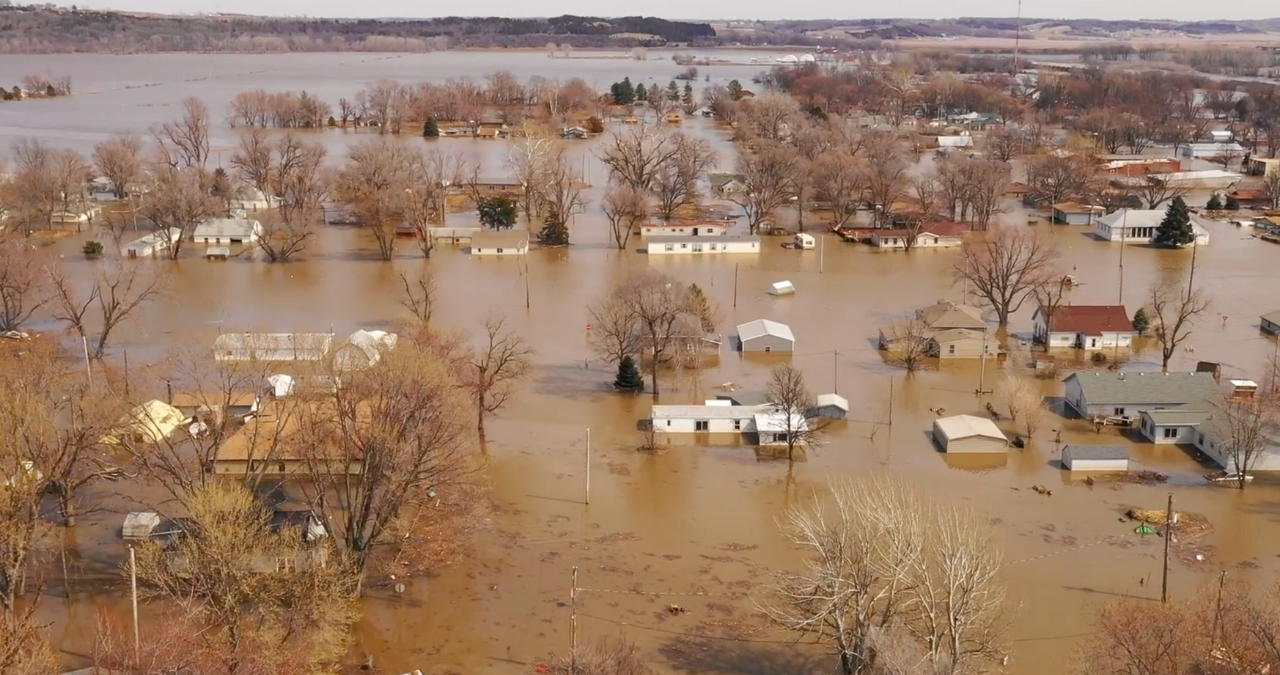 Flooding in Pacific Junction, Iowa