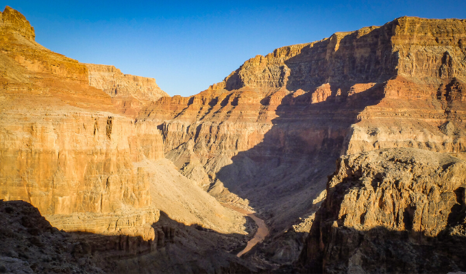Little Colorado River, looking upstream towards Big Canyon | Photo by Sinjin Eberle