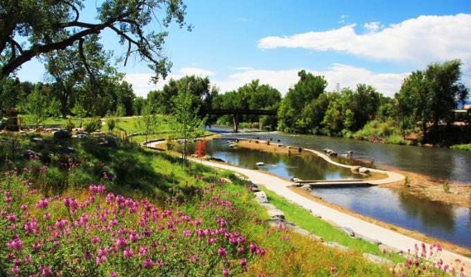 Grant Frontier Park on the South Platte River, Denver, CO   Photo by Brandon Parsons