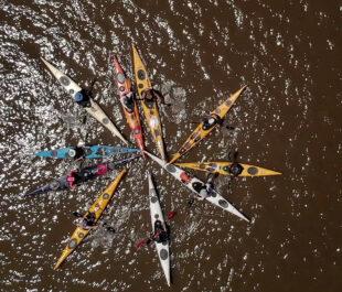 Kayak Star in the Hudson River | Photo by David Oliver (@shelteredexistence)