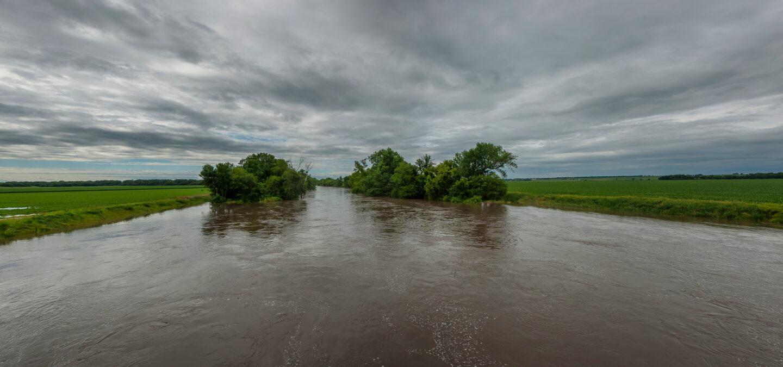 The Skunk River, Iowa   Photo by Carl Wycoff