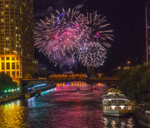 Chicago River Fireworks   Getty Images