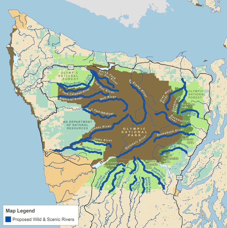 Wild Olympics Map