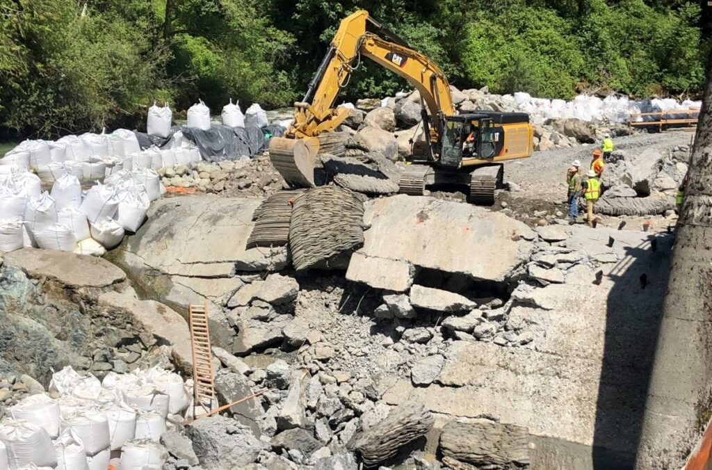 Nooksack Dam Removal | Photo Courtesy of The City of Bellingham
